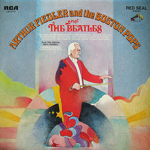 Arthur Fiedler And The Boston Pops ‎– Play The Beatles- 1969-Contemporary Classical (vinyl)