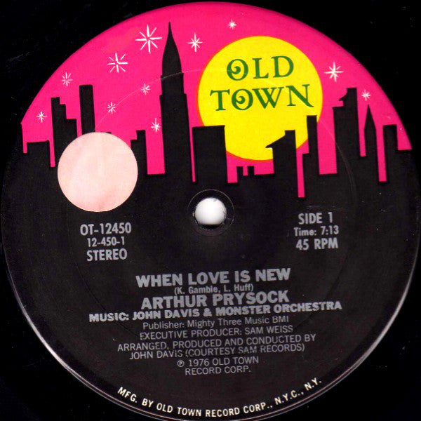 "Arthur Prysock When Love Is New - 1976- Funk / SoulVinyl, 12"", 45 RPM"