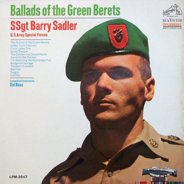 SSgt Barry Sadler ‎– Ballads Of The Green Berets -1966  Military, Vocal, Country (Rare Vinyl)