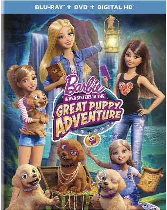 Barbie & Her Sisters in the Great Puppy Adventure [Blu-ray + DVD + Digital Copy  New
