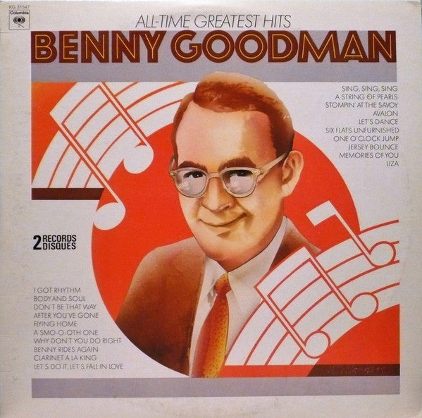 Benny Goodman ‎– All-Time Greatest Hits -1972- 2 lps - Jazz swing (vinyl)