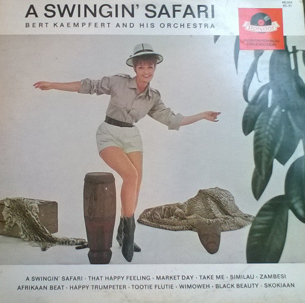 Bert Kaempfert And His Orchestra ‎– A Swingin' Safari - 1964-  Jazz, Big Band, Easy Listening (vinyl)