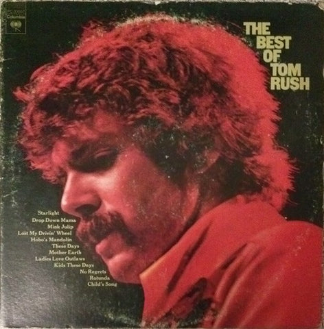 Tom Rush ‎– The Best Of Tom Rush -1975 Blues Folk Rock (vinyl)