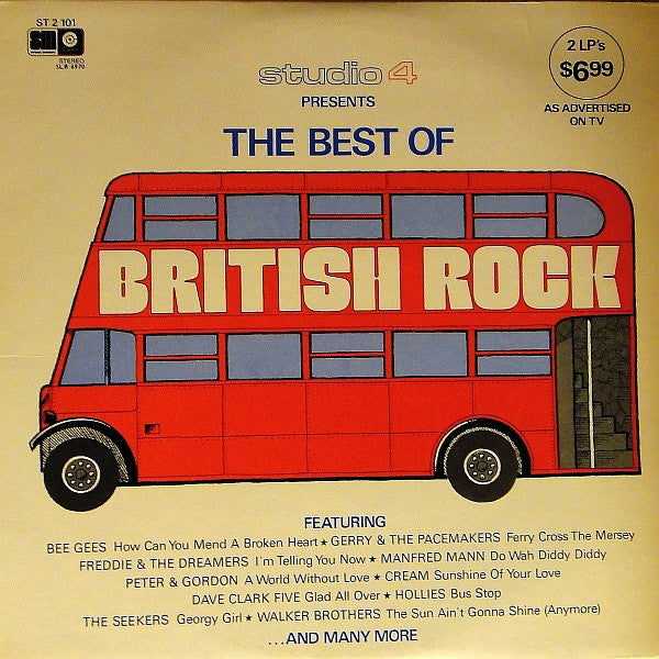 Best Of British Rock- rock & pop  Bee Gees , dave Clark Five ++ ( Clearance vinyl) Only # 1 of 2 Album Set