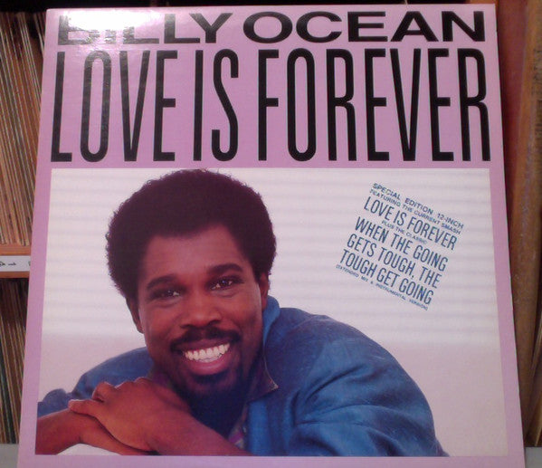 Billy Ocean ‎– Love Is Forever / When The Going Gets Tough, The Tough Get Going -1986 Soul (vinyl)