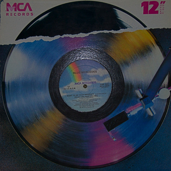 "Blue Mercedes ‎– I Want To Be Your Property -1987- Vinyl, 12"", 33 ⅓ RPM, Maxi-Singl"