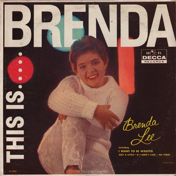 Brenda Lee ‎– This Is Brenda - 1960- Rockabilly, Rock & Roll (vinyl)