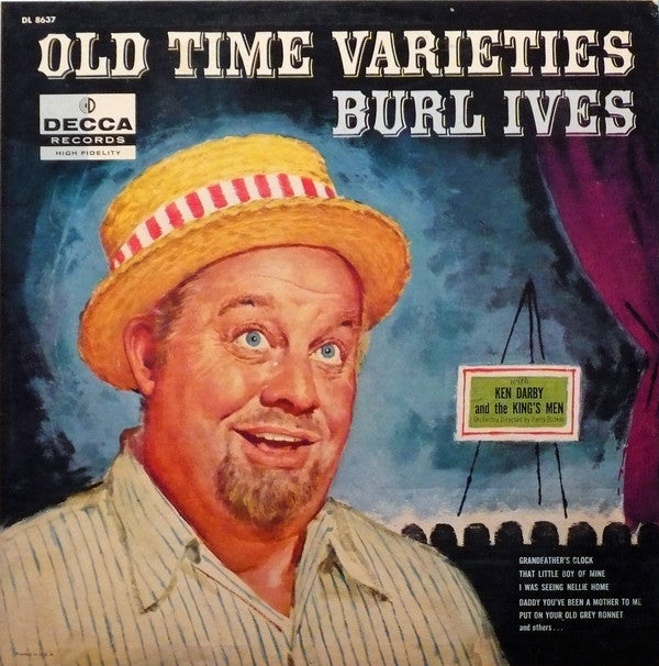 Burl Ives ‎– Old Time Varieties - 1958 pop (vinyl)