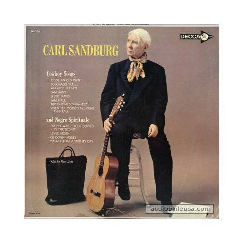 Carl Sandburg ‎– Cowboy Songs And Negro Spirituals -1962- Folk (rare vinyl)