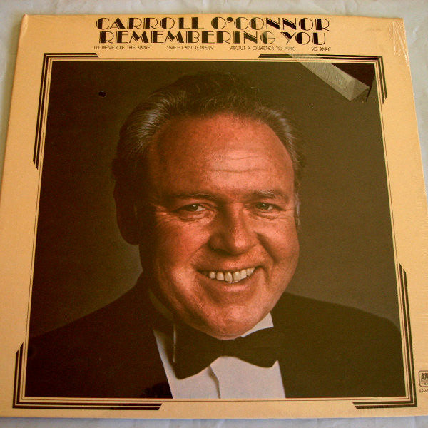 Carroll O'Connor ‎– Remembering You-1972-Jazz, Stage & Screen (vinyl)