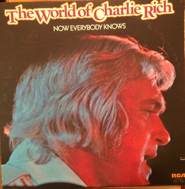 Charlie Rich ‎– The World Of Charlie Rich / Now Everybody Knows -1976- çountry (vinyl)