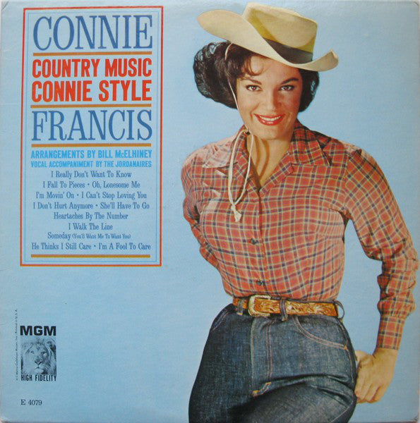Connie Francis ‎– Country Music Connie Style -1962 -  Folk, World, & Country (vinyl)
