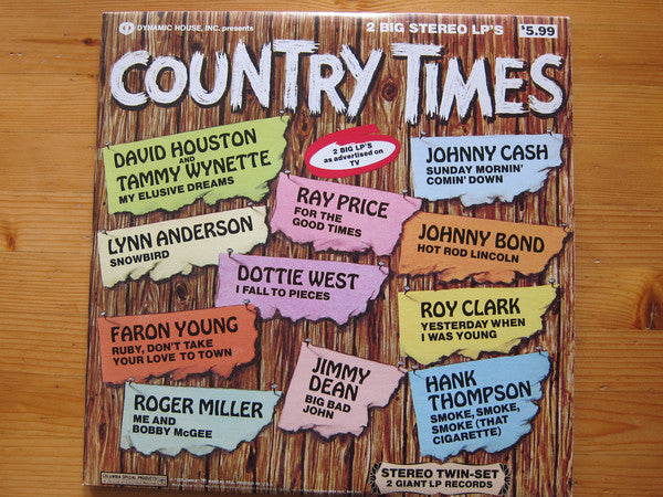 Country Times -1973- 2 lps - Country (vinyl) Cash,Clark, Owens, Faaron Young +