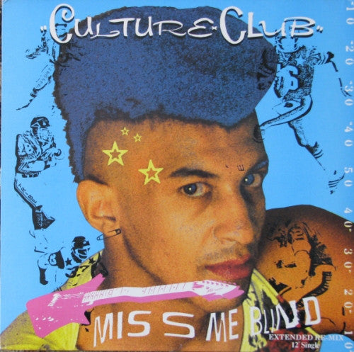 "Culture Club ‎– Miss Me Blind (Extended Re-Mix)-1984-Synth-pop- Vinyl, 12"", 45 RPM, Single"