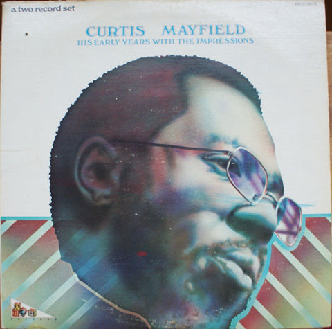 Curtis Mayfield ‎– His Early Years With The Impressions - 2 lps - 1973- Funk / Soul ( vinyl )