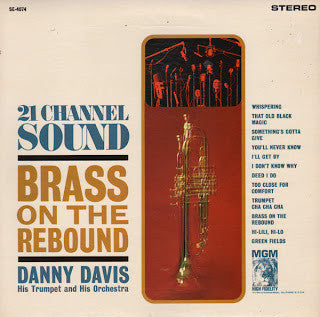 Danny Davis, His Trumpet And His Orchestra ‎– Brass On The Rebound (vinyl) jazz