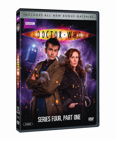Doctor Who: Series Four: Part One DVD (new) w/ 4 Fridge Magnets