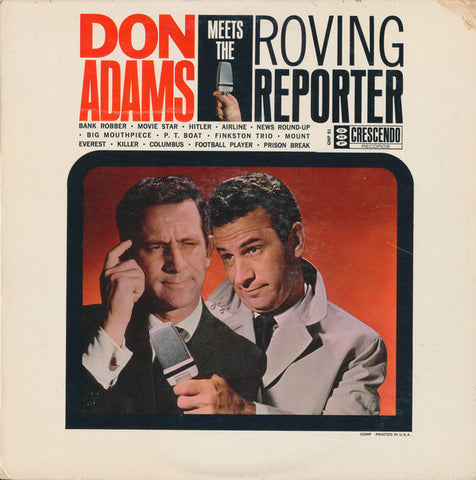 Don Adams  ‎– Don Adams Meets The Roving Reporter - 1963- Comedy ( Clearance Vinyl ) light scuffing