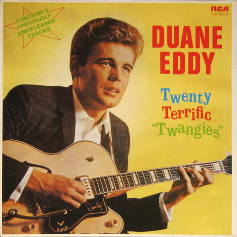 "Duane Eddy ‎– Twenty Terrific ""Twangies"" -1983 -  Surf, Rock & Roll ( UK & Europe Import Vinyl)"