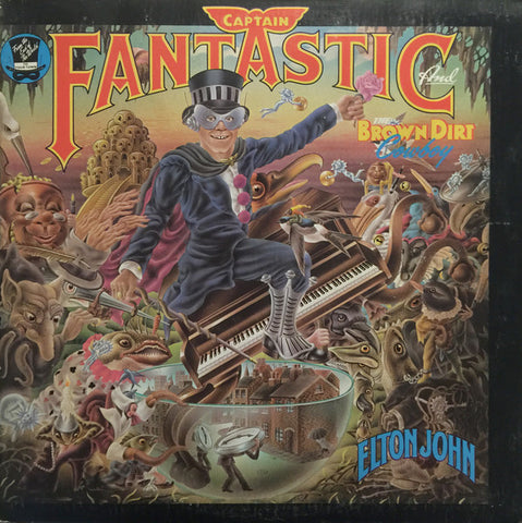 Elton John ‎– Captain Fantastic And The Brown Dirt Cowboy -1975- Pop Rock, Classic Rock ( Vinyl) with books & poster !