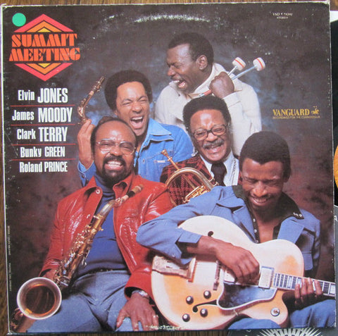 Elvin Jones, James Moody, Clark Terry, Bunky Green, Roland Prince ‎– Summit Meeting - 1977 Jazz (vinyl)