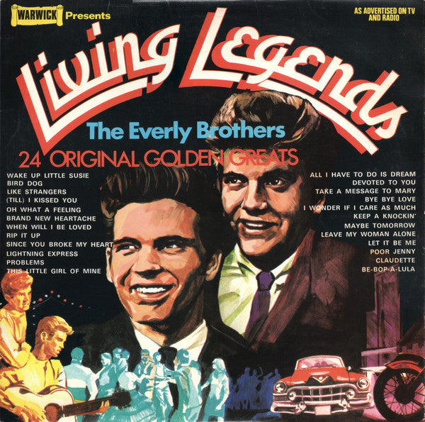 Everly Brothers ‎– Living Legends - 1972-Rock & Roll, Classic Rock ( UK IMport Vinyl )