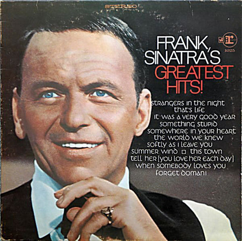 Frank Sinatra ‎– Frank Sinatra's Greatest Hits - 1967- Jazz, Pop (clearance vinyl)slight warp