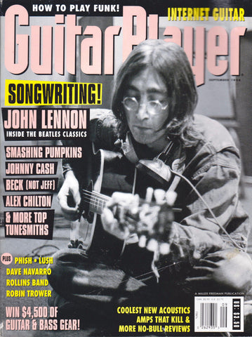 "GUITAR PLAYER SEPTEMBER1994 ""SONGWRITING! / JOHN LENNON"" ( used magazine - Rare)"