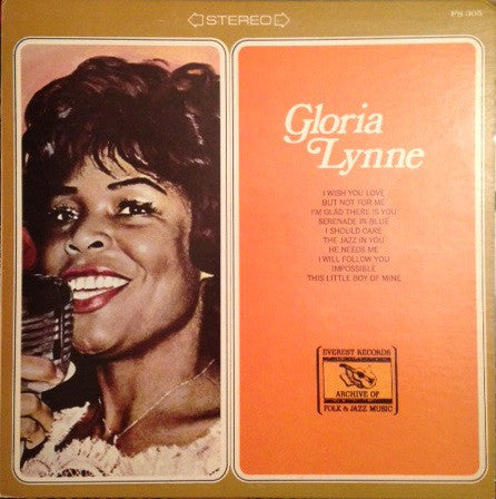 Gloria Lynne ‎– Gloria Lynne (Including I Wish You Love) -1974-Jazz, Funk / Soul, Pop Style: Vocal (vinyl)