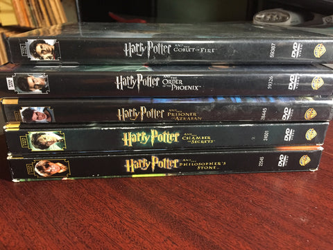 HARRY POTTER - 5 DVD COLLECTION (MINT USED)