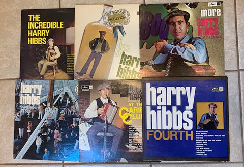 6 HARRY HIBBS ALBUMS - VG + to MINT - Great Shape! Lot Sale - Newfoundland, Maritime (vinyl)