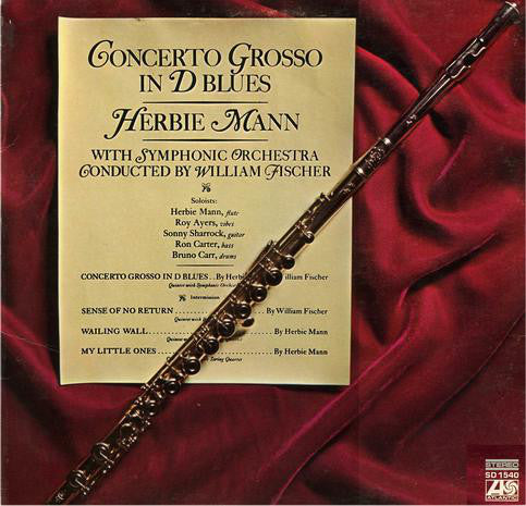 Herbie Mann ‎– Concerto Grosso In D Blues- 1969 Jazz (vinyl)