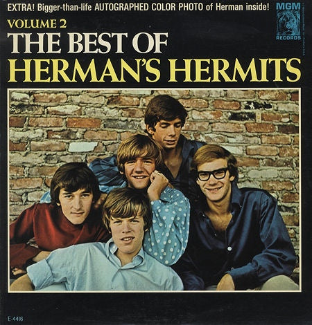 Herman's Hermits ‎– Volume 2: The Best Of Herman's Hermits W/ Poster !