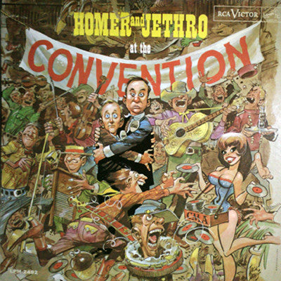 Homer And Jethro ‎– Homer And Jethro At The Convention - 1962- Comedy, Folk (Rare Vinyl)