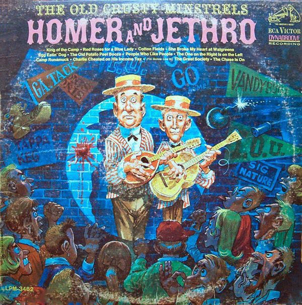 Homer And Jethro ‎– The Old Crusty Minstrels -1965 - Folk, World, & Country (Vinyl)