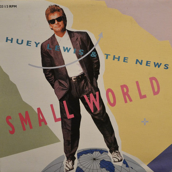 "Huey Lewis & The News ‎– Small World -1988  Vinyl, 12"", 33 ⅓ RPM"
