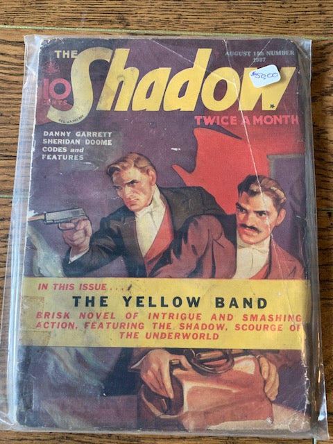 The Shadow 1937 Aug  Pulp Magazine