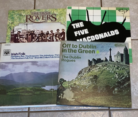 4  CELTIC ALBUMS - VG + to MINT - Great Shape! Lot Sale (Vinyl)  1 is SIGNED