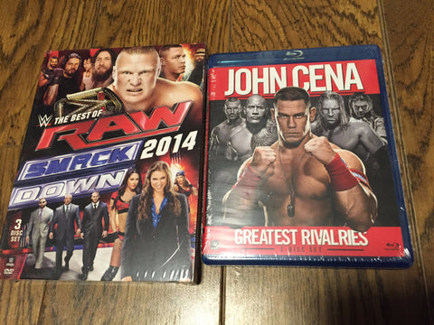 SmackDown 2014 ( best of ) DVD Set  & John Cena - Greatest Rivalries ( Blu ray )