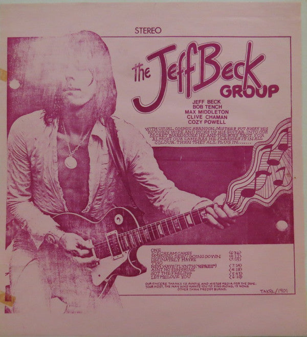 Jeff Beck Group ‎– European Tour -1974  Jazz, Rock, Blues< Hard Rock (Unofficial Release /Boot) Vinyl