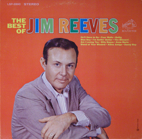 Jim Reeves -The Best Of Jim Reeves -1964 Country (Clearance Vinyl)
