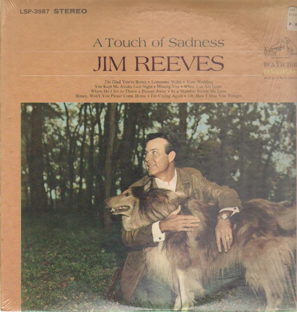 Jim Reeves ‎– A Touch Of Sadness -1968 - Folk, World, & Country (Clearance Vinyl)