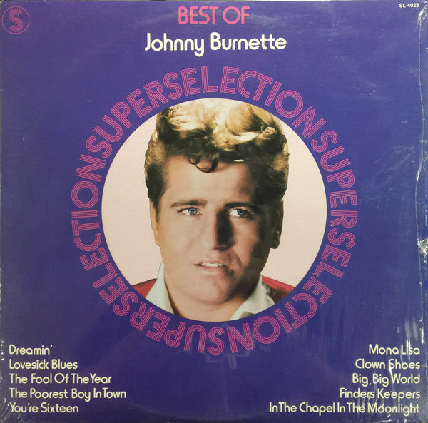 Johnny Burnette ‎– Best Of- 1976 -  Rockabilly (vinyl)