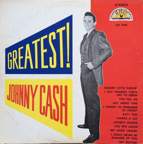 Johnny Cash ‎– Greatest!  - 1959 - Folk, Country ( Rare Sun Release Vinyl )