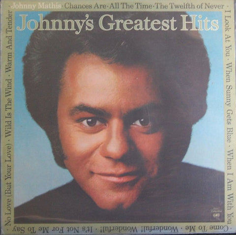 Johnny Mathis ‎– Johnny's Greatest Hits- 1977 Pop Vocal (vinyl)