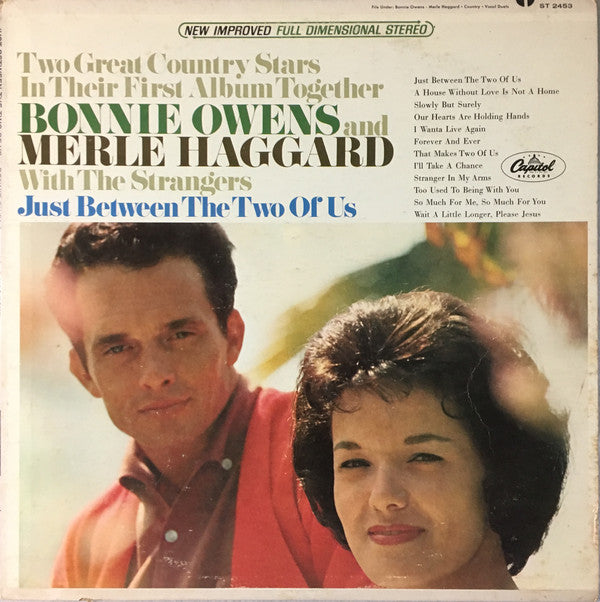 Bonnie Owens And Merle Haggard With The Strangers  ‎– Just Between The Two Of Us