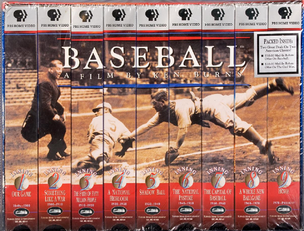 KEN BURNS ~ BASEBALL VHS SET ~ 9 VHS SET