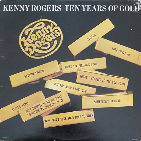 Kenny Rogers ‎– Ten Years Of Gold -1977 Country (clearance vinyl) Overstocked