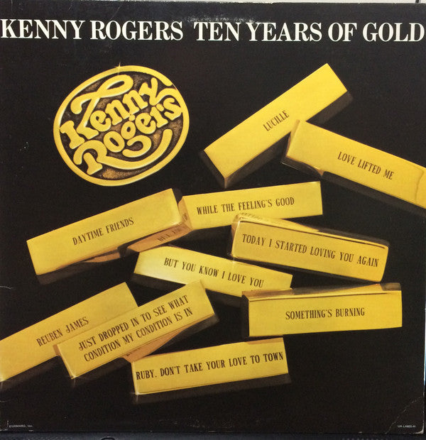 Kenny Rogers- Greatest Hits, Ten Years of Gold, Kenny ~2 great albums / one low price ! (mint!)
