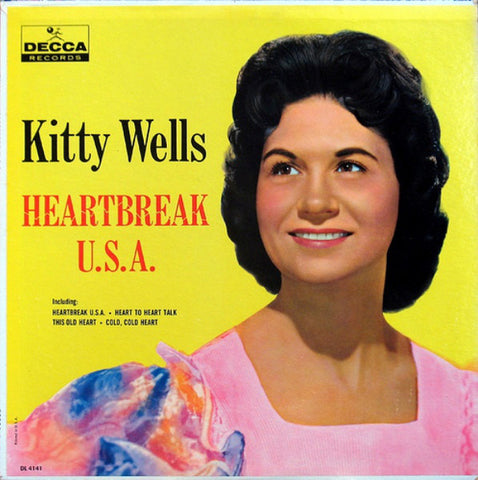 Kitty Wells ‎– Heartbreak U.S.A. - 1961- Folk, Country (clearance Vinyl) marks